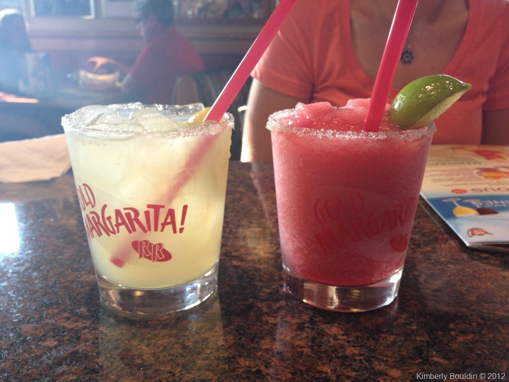 Mine is the original margarita on the rocks on the left; Laurie ...
