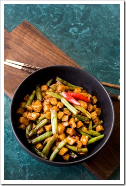 San-J Spicy Tofu and Green Beans-2